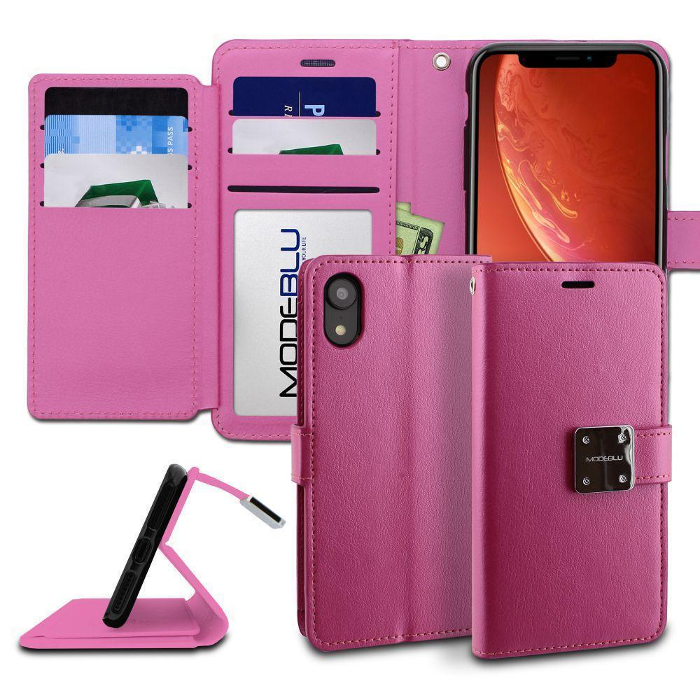 new styles 96891 239f1 Apple iPhone XR Case Mode Diary Wallet Cover - ModeBlu- Pink
