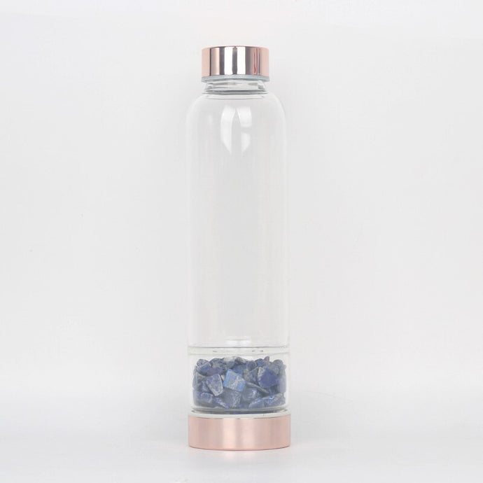 Lapis Lazuli Elixir Energy Drink Bottle, Rose Gold | GULA MAGICK