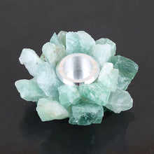 Load image into Gallery viewer, Fluorite Quartz Candleholder | GULA MAGICK