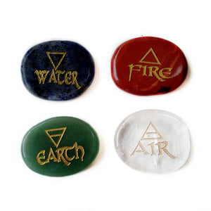 Four Element Crystal Palm Stone | GULA MAGICK