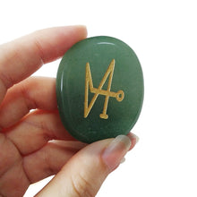 Load image into Gallery viewer, Green Aventurine Archangel Palm Stone | GULA MAGICK