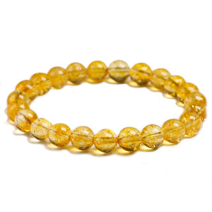 Citrine Beaded Crystal Bracelet | GULA MAGICK