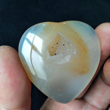 Load image into Gallery viewer, Agate Heart Palm Stone | GULA MAGICK