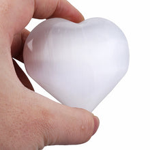 Load image into Gallery viewer, Selenite Heart Palm Stone | GULA MAGICK