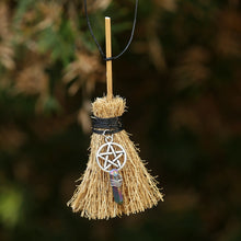 Load image into Gallery viewer, Pentagram Witch Broom Necklace | GULA MAGICK
