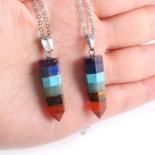 Load image into Gallery viewer, Seven Chakra Pendulum Necklace | GULA MAGICK