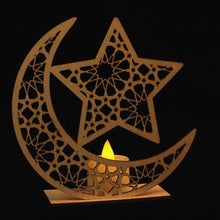 Load image into Gallery viewer, Ramada Wood LED Candle Lamp | GULA MAGICK