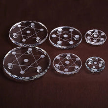 Load image into Gallery viewer, Star of David Crystal Plate | GULA MAGICK