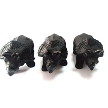 Load image into Gallery viewer, Black Obsidian Triceratops Stone, 5.5"