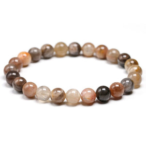 Brown Sunstone Beaded Crystal Bracelet | GULA MAGICK
