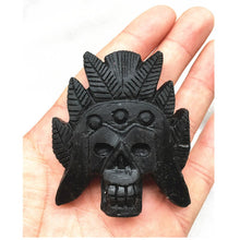 Load image into Gallery viewer, Black Obsidian Ancient Skull | GULA MAGICK