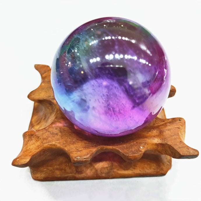 Angel Aura Crystal Ball, 3cm | GULA MAGICK