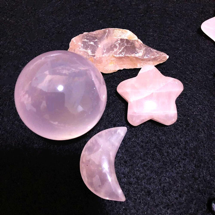 Rose Quartz Fundamental Crystal Set | GULA MAGICK