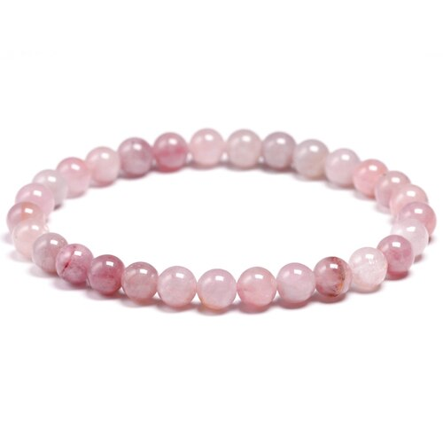 Madagascar Pink Quartz Beaded Crystal Bracelet | GULA MAGICK