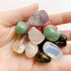 Mixed Tumbled Rune Stones Set | GULA MAGICK
