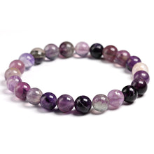Load image into Gallery viewer, Purple Fluorite Beaded Crystal Bracelet | GULA MAGICK