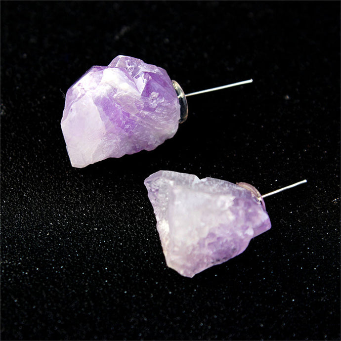 Amethyst Raw Earring | GULA MAGICK