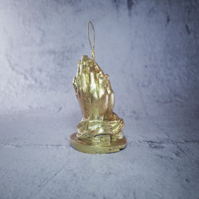 """Make a Wish"" Gold Candle, Beeswax, 3.5"