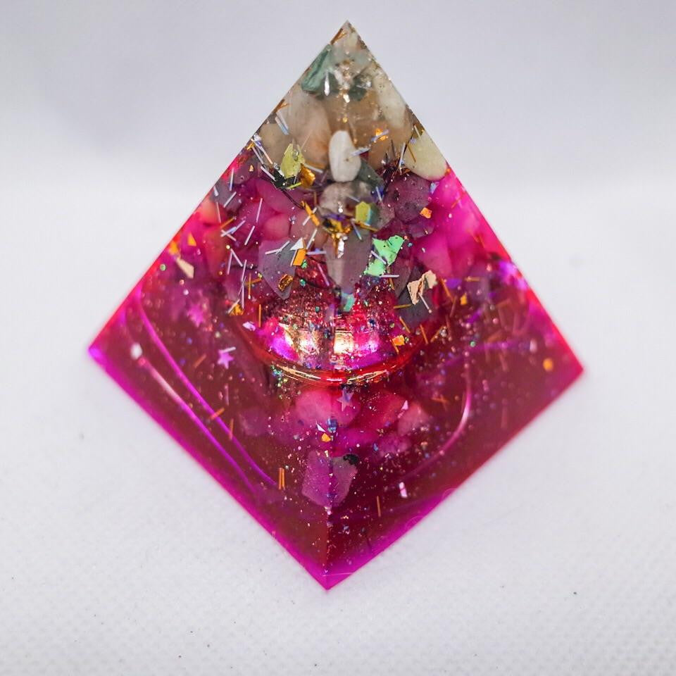 Love Orgonite Pyramid | Large - GULA MAGICK