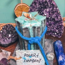 "Load image into Gallery viewer, ""Power+Confident"" Hexagram Intention Candle, Soy Wax - GULA MAGICK"