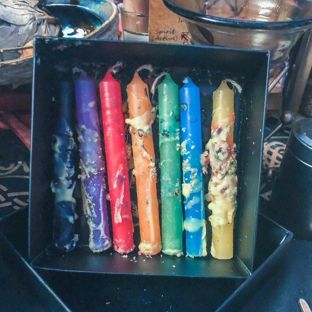 Herbal Chime Spell Candle, 7 Day Set - GULA MAGICK