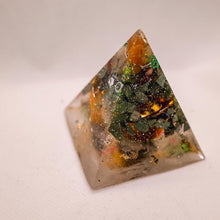 Load image into Gallery viewer, Prosperity Orgonite Pyramid L - GULA MAGICK