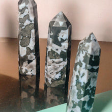 Load image into Gallery viewer, Indigo Gabbro Crystal Wand Point - GULA MAGICK