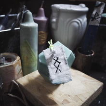 Load image into Gallery viewer, Prosperity Stone Candle | Intention Magick - GULA MAGICK