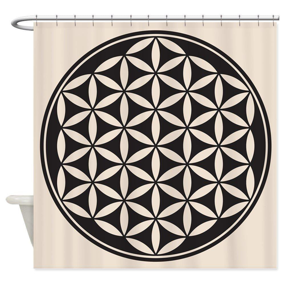Flower of Life Waterproof Shower Curtain - GULA MAGICK