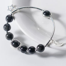 Load image into Gallery viewer, Black Obsidian Moon Bracelet - GULA MAGICK