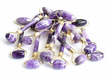 Load image into Gallery viewer, Amethyst Double Head Facial Roller - GULA MAGICK