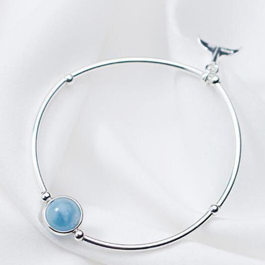Aquamarine Mermaid Bangle Bracelet - GULA MAGICK