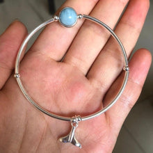 將影像加載到庫檢視器中, Aquamarine Mermaid Bangle Bracelet - GULA MAGICK