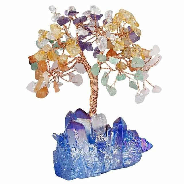 Bonsai Crystal Cluster Wealthy Tree - GULA MAGICK