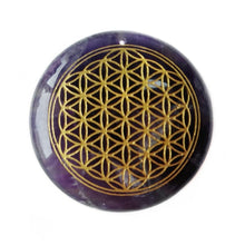 Load image into Gallery viewer, Amethyst Flower of Life Pendant | GULA MAGICK