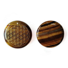 Load image into Gallery viewer, Tiger Eye Flower of Life Pendant | GULA MAGICK