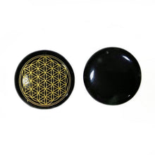 將影像加載到庫檢視器中, Black Obsidian Flower of Life Pendant | GULA MAGICK