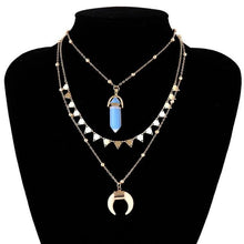 Load image into Gallery viewer, Crystal Moon Tassel Necklace | GULA MAGICK