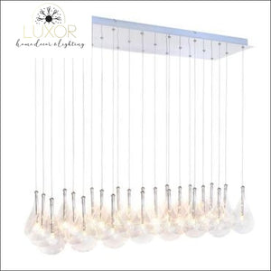 chandeliers Calusia Glass Linear Suspension Chandelier - Luxor Home Decor & Lighting