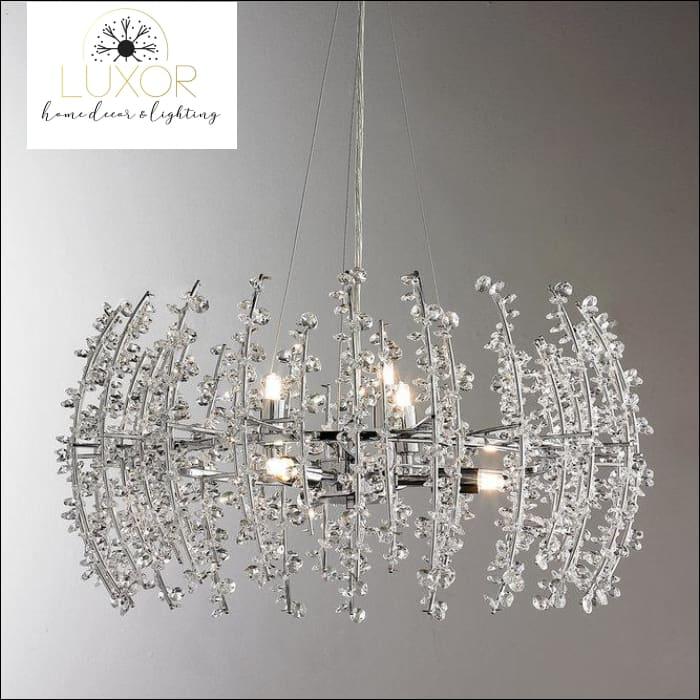 Shade Crystal Chandelier - chandeliers