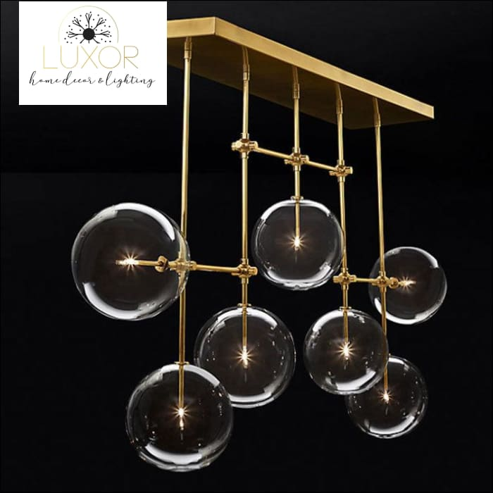 chandeliers Nabila Nordic Glass Round Chandelier - Luxor Home Decor & Lighting