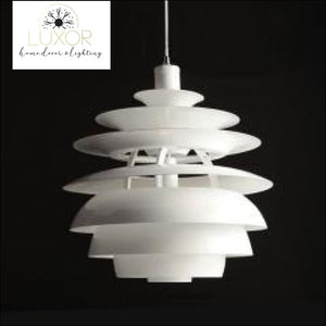 pendant lighting Vincent White Modern Pendant - Luxor Home Decor & Lighting