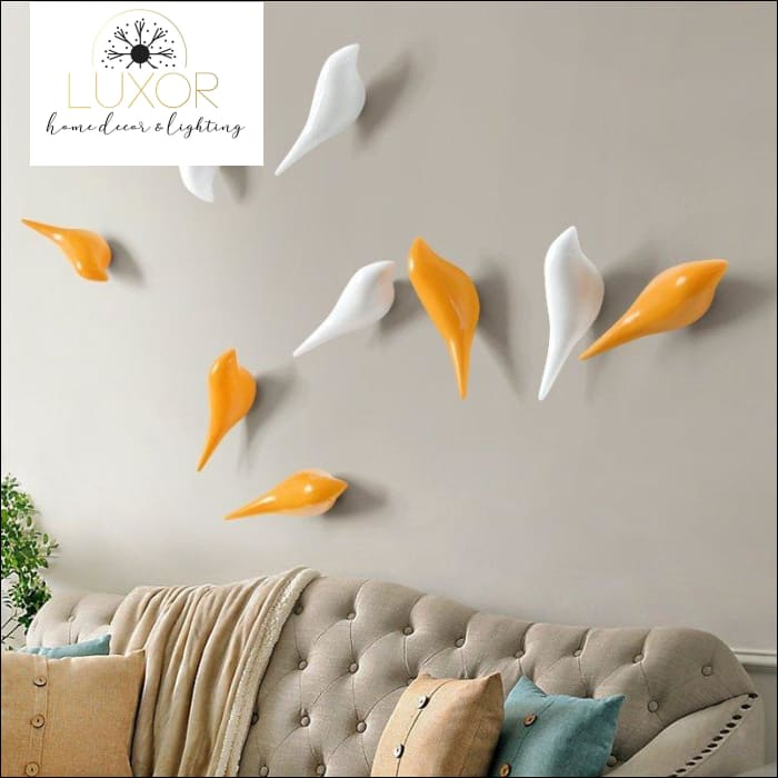 Art Bird Hooks - wall decor