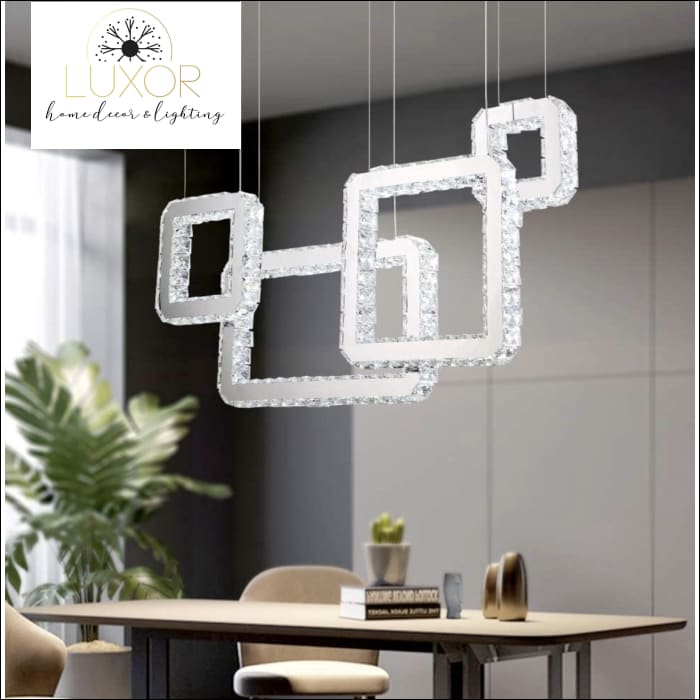 Lush Square Diamond Chandelier - Chandeliers