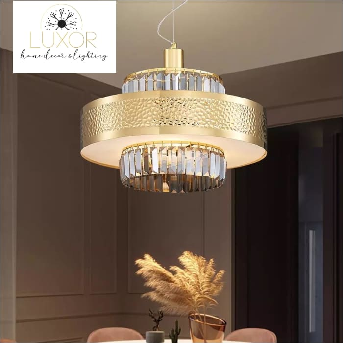 Stirling Crystal Chandelier - chandeliers