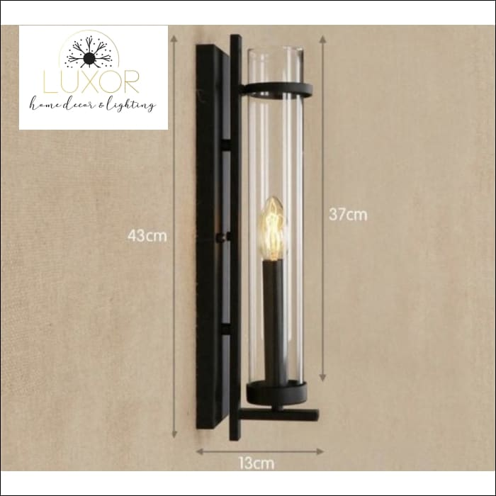 Norini Glass Antique Vintage Wall Sconce - 43 cm x 13 cm x 37 cm - wall lighting