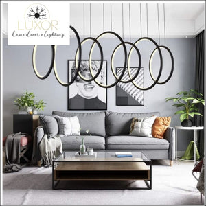 Chandeliers Tiatrini LED Circular Chandelier - Luxor Home Decor & Lighting