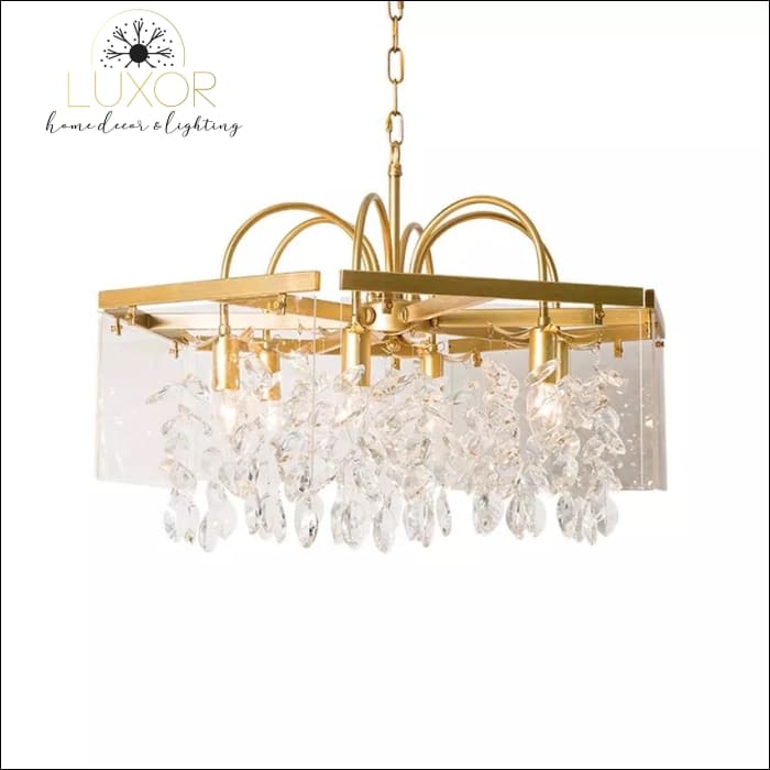 Welles Linear Crystal Chandelier - chandeliers