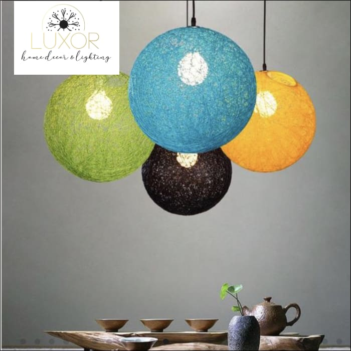 Rainbow Vintage Wicker Pendant Light - Pendant Lighting