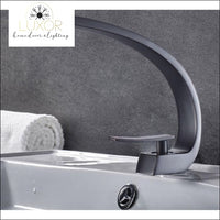 XANI Modern Bathroom Brass Faucet - Black - faucets
